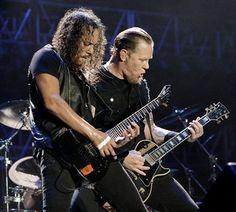 Kirk Hammet and James Hetfield