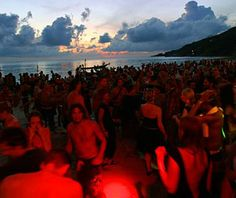 Attend a Full Moon Party, Thailand Nighttime Adventure: Socialize, dance, drink, and rave on the beaches in Koh Phangan, a tropical Thai island, where the once-a-month Full Moon Party features an international crowd of party animals.  Star Qualities: The immense, all-night-long event includes bands, performances, food, drink, and all forms of unfettered bacchanalia, from first dark until the sun rises again over tropical Pacific waters.