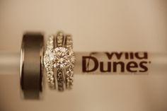 Wild Dunes Resort Weddings// Cute idea for bride and groom ring photo