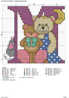 alfabeto degli orsetti : M