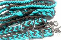 Roping Knotted Horse Western Barrel Reins Nylon Braided Romel Turquoise 60764 Prorider http://www.amazon.com/dp/B00NA8S6PK/ref=cm_sw_r_pi_dp_JzHkub03KQP8B I really want these!!