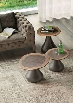 Round MDF coffee table RIO by Cattelan Italia | #design Giorgio Cattelan #wood