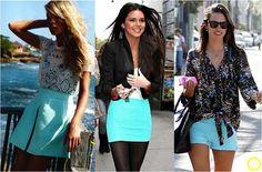 Look do Dia = Saia Azul Turquesa