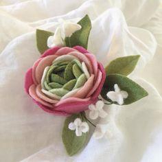 This ranunculus broach is heading off to a beautiful local mama  #feltflowers #felt #bestofetsy #ranunculuslove #eastyork #etsy #etsyshop #etsyseller #etsyfinds #floristsofinstagram #floralart #feltbroach #canadianartist