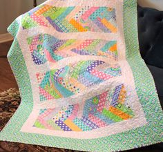 Lap Throw quilt- Me and my Sister, Braided quilt with a bonus pillow case, colorful pieces by GardenofQuiltsShop on Etsy