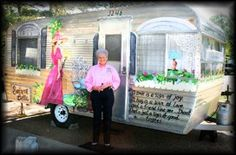 Dixie Taylor and her trailer, Southern Belle, from www.getawaygals.com