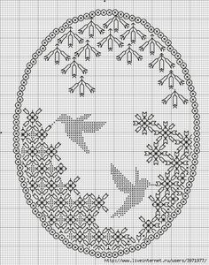 ru, Done Oval Blackwork Motifs Blackwork, Blackwork Cross Stitch, Cross Stitch Bird, Cross Stitch Animals, Cross Stitch Charts, Cross Stitching, Cross Stitch Patterns, Kasuti Embroidery, Folk Embroidery