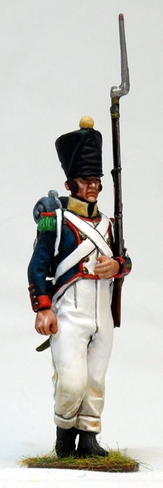 NP 260 voltigeur de linea waterloo 2 Lead Soldiers, Toy Soldiers, Military History, Napoleon, Empire, Army, Miniatures, Models, Style
