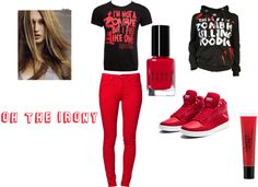 """Rocking Red And Black"" by takemeaway99 ❤ liked on Polyvore"