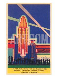 Art Deco Entrance, Chicago World's Fair Print