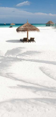 White sands of the Maldives