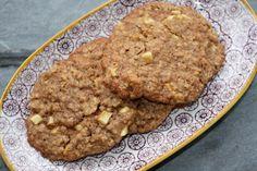 Krydrede efterårscookies med æbler, havregryn og kanel - Sarahs Kager