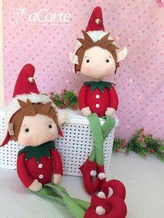 Diy Christmas Yard Decorations, Art Christmas Gifts, Felt Christmas Ornaments, Christmas Items, Christmas Elf, Christmas Projects, Felt Crafts, Christmas Crafts, 242