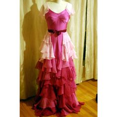 Hermione Granger Yule Ball Dress Blue Book Style Gown Replica Costume... (€1.015) ❤ liked on Polyvore featuring costumes