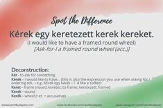 Hungarian can be very special sometimes. We'll help you to Spot the Difference in the Hungarian vocab jungle. Background Information, Deconstruction, Hungary, Budapest, Languages, Fun Stuff, Alphabet, Learning, Words