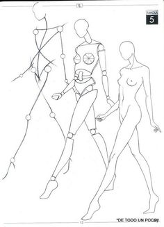 FIGURINO DI MODA / proportion pour dessin de mode