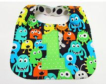 First Birthday Bib Cake Smash Baby Boy Little Monsters 1st Birthday Photo