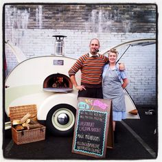 wood fired oven mini food truck