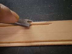A Sailor's Leather: Homemade Leather Tools.: