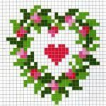Embroidery Samples for Necklaces 52 Cross Stitch Heart, Cross Stitch Flowers, Modern Cross Stitch Patterns, Cross Stitch Designs, Cross Stitching, Cross Stitch Embroidery, Hand Embroidery Designs, Schmuck Design, Tapestry