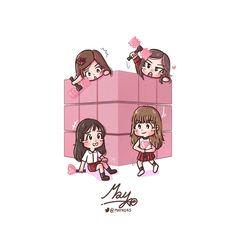 """BlackPink: """"Square Up"""" coming soon! K Pop, Blackpink Square Up, Blank Pink, Cartoon Girl Images, Black Pink Kpop, Blackpink And Bts, Cute Chibi, Pink Art, Kpop Fanart"""