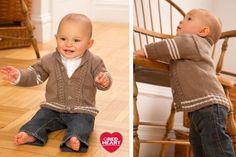 Preppy Baby Cardigan - Free Pattern