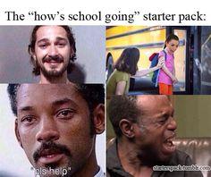 Memes School Starter Pack 61 Ideas For 2019 Funny Quotes, Funny Memes, Hilarious, Jokes, Steve Rogers, Funny Starter Packs, Super Memes, Memes Marvel, College Humor