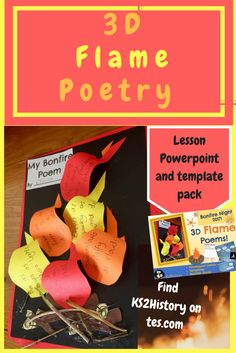 This popular bonfire poetry lesson makes a fun literacy activity that is perfect in the run up to bonfire night or to go alongside fire topics. Fire London, Great Fire Of London, The Great Fire, Bonfire Night Ks1, Bonfire Night Activities, London Activities, Poetry Activities, Teaching Displays, School Displays