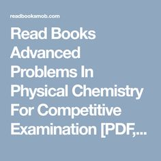 Essentials of physical chemistry by arun bahl and bs bahl book read books advanced problems in physical chemistry for competitive examination pdf epub by fandeluxe Choice Image