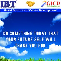 Do something today that your future self will thank you for. Career Development, Facebook Sign Up, Success Quotes, Something To Do, Self, Future, Future Tense