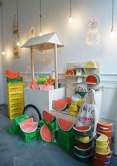 Cottoli shop fruit display