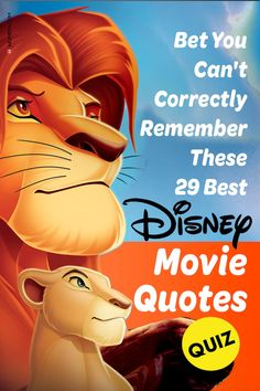 Prove how well you know Disney classics by taking this quiz on quotes from The Lion King, The Little Mermaid, and many more! #disney #disneyquiz #disneyquotes
