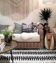"2,021 Likes, 27 Comments - Justinablakeneyhome (@justinablakeneyhome) on Instagram: ""Regram from @ruemagazine! Our Kahelo rug getting all snugly with some of our @selamatdesigns…"""