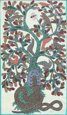 by  Jangarh Singh Shyam, 1984, Gond art, India