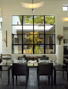 Interior windows, interior trim, metal windows, aluminium windows, modern w Modern Dining, House Design, Interior Windows, Modern Dining Room, Metal Windows, Contemporary House, Dining Room Contemporary, Interior Trim, Interior Window Trim