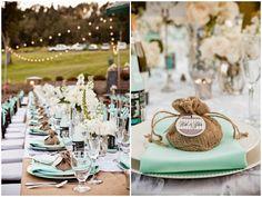 Mint Green Wedding Table Decor Set-Up