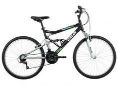 12421bd4e Bicicleta Caloi Mountain Bike Aro 26 - Freio V-brake 21 Marchas Loucos