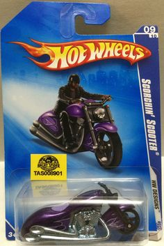Mattel Hot Wheels Racing Stock Car - Scorchin' Scooter This item is NOT in Mint Condition and is in no way being described as Mint or even Near Mint. Our toys have not always lead the perfect life, no