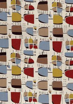 1950's Modernist Textiles ~ Henry Moore Design