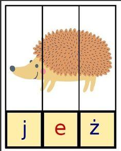 puzzle do nauki czytania Kids Education, Kids Playing, Montessori, Back To School, Crafts For Kids, Preschool, Puzzle, Language, Children Play