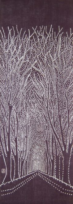 needle holes in black paper and then bonding white paper effective Japanese Textiles, Japanese Prints, Pointillism, Winter Art, Dot Painting, Black Paper, White Paper, Art Club, Craft Party