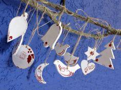 Natal chegando... Peças feitas em cerâmica.