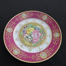 assiette plate en porcelaine de sèvres signés S 68