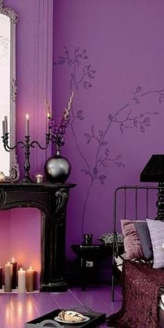 Purple..love this room
