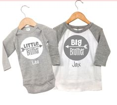 Personalized Big Brother little Brother Shirts, Big Brother Little Brother Outfits, Big Brother Announcement Shirt Little Brother Shirt by TheMonogrammedPrep on Etsy https://www.etsy.com/listing/471910806/personalized-big-brother-little-brother