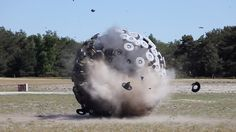 drones + cinétique boules pour champs de mine