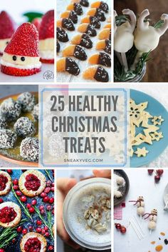 25 healthy Christmas treats for kids #Christmas #ChristmasFood #KidsFood #HealthyKids #funfood