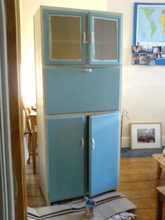 1950S Kitchen Cabinets Adorable Vintage 1950's Kitchen Cabinet Larder Cupboard  Kitchen's Design Inspiration
