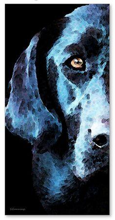 Dog Art Print Painting Hunting Hunter Labs by BuyArtSharonCummings, $135.00