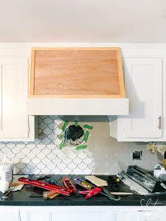 Oven Vent, Oven Hood, Range Hood Cover, Range Hoods, Kitchen Redo, Kitchen Remodel, Kitchen Design, Kitchen Storage, Kitchen Ideas
